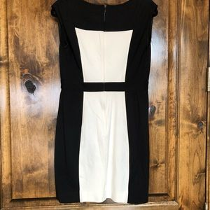 Ann Taylor Loft Black and Off-White Dress Size 6